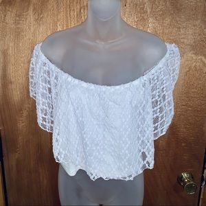 Charlotte Russe Laced Crop Top